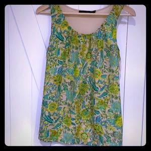 The Limited summery floral tank with solid back. M